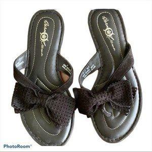 Born Crown Suede Mules Flip Flops Leather 5